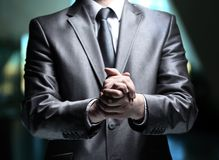 Hands steady business man Stock Images