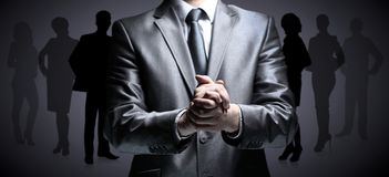 Hands steady business man Royalty Free Stock Photo