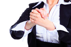 Hands steady business women Royalty Free Stock Images