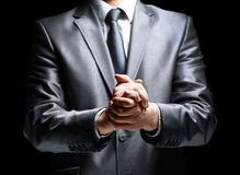 Hands steady businessman Royalty Free Stock Photo