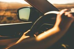 Hands on Steering Wheel stock image
