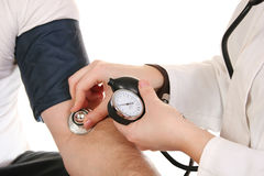 Hands with stethoscope Royalty Free Stock Images