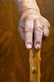 Hands and stick Royalty Free Stock Photography
