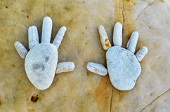 Hands of stone Royalty Free Stock Images