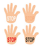 Hands stop Royalty Free Stock Images