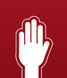 Hands Stop Red Royalty Free Stock Photos