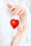 Hands store heart Royalty Free Stock Photo