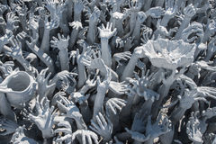 Hands stucco white in north of Thailand Royalty Free Stock Photo