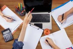 Hands student doing homework 4 Royalty Free Stock Photo