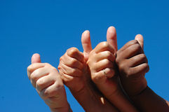 Hands successful girls Stock Image