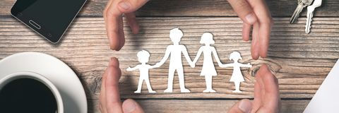 Caring For Your Family Banner royalty free stock photography