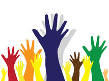 Hands symbol of diversity Stock Photos