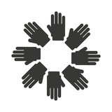 hands symbol diversity isolated icon design Stock Image