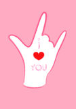 Hands symbol of I love you Stock Photo