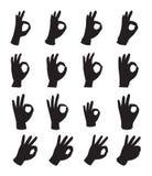 Hands symbol ok Stock Image