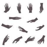 hands symbolen Arkivfoton