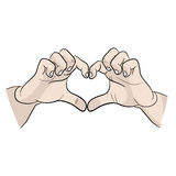 Hands symbolize a Declaration of love. I love you icon. hands symbolize a Declaration of love icon. I love you icon Stock Images