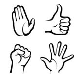 Hands symbols collection Stock Photography