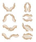 hands symbolsvektorn Arkivbilder