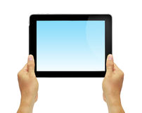 Hands with tablet computer. Stock Photography