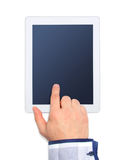 Hands with tablet computer isolated on white background Stock Photography