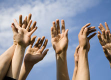 Hands of the team Stock Image