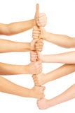 Hands in a team Royalty Free Stock Photography