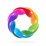 Hands teamwork logo vector Royalty Free Stock Image