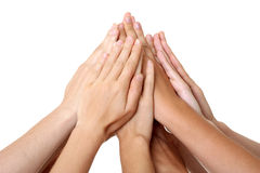 Hands teamwork success union