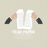 Hands Tears Paper. Royalty Free Stock Image