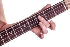 Hands of an teenager plays guitar Stock Photos