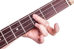 Hands of an teenager plays guitar Royalty Free Stock Images