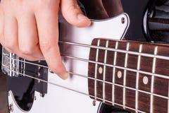 Hands of an teenager plays guitar Royalty Free Stock Photos