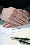 Hands and Testament Royalty Free Stock Photography