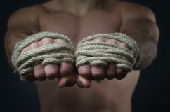 Hands Thai boxer Royalty Free Stock Images
