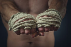 Hands Thai boxer Royalty Free Stock Photo
