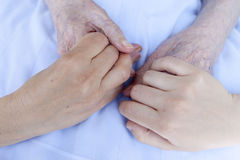 Hands of three generations Royalty Free Stock Photography