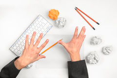 Hands throw things Royalty Free Stock Photos