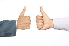 Hands with thumb up Stock Images