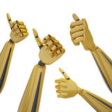 Hands with thumb up Royalty Free Stock Photo