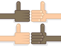 Hands Thumbs Up Royalty Free Stock Photography