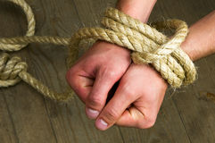 Hands tied Stock Images