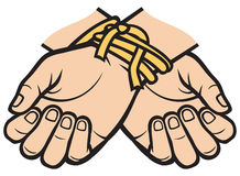 Hands tied Royalty Free Stock Photo