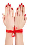 Hands tied. Royalty Free Stock Images