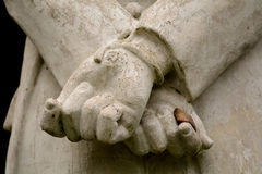 Statue hands tied behind back Stock Photography