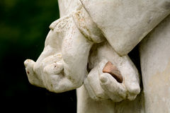 Statue hands tied behind back Stock Images
