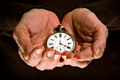 Hands of time Royalty Free Stock Photos
