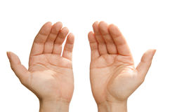 Hands to Heaven - Islamic prayer Stock Photo