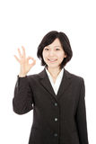 Hands to make young asian woman Stock Photos