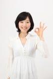 Hands to make young asian women Stock Photos